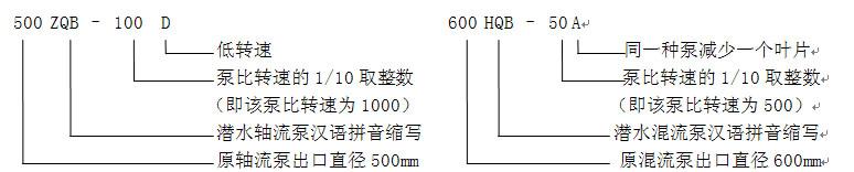 潜水轴流泵,混流泵结构示意图